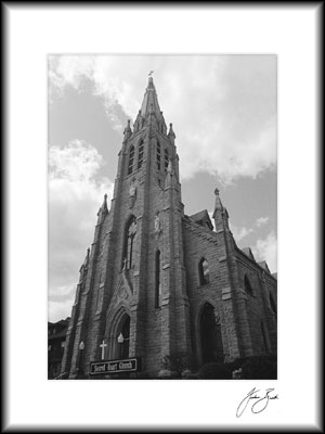 Sacred Heart Church Photograph, St. Marys PA