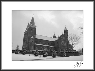 Winter Scene 3, St. Vincent College